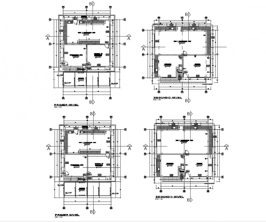 Floor plan distribution details of insemination laboratory cad drawing details dwg file