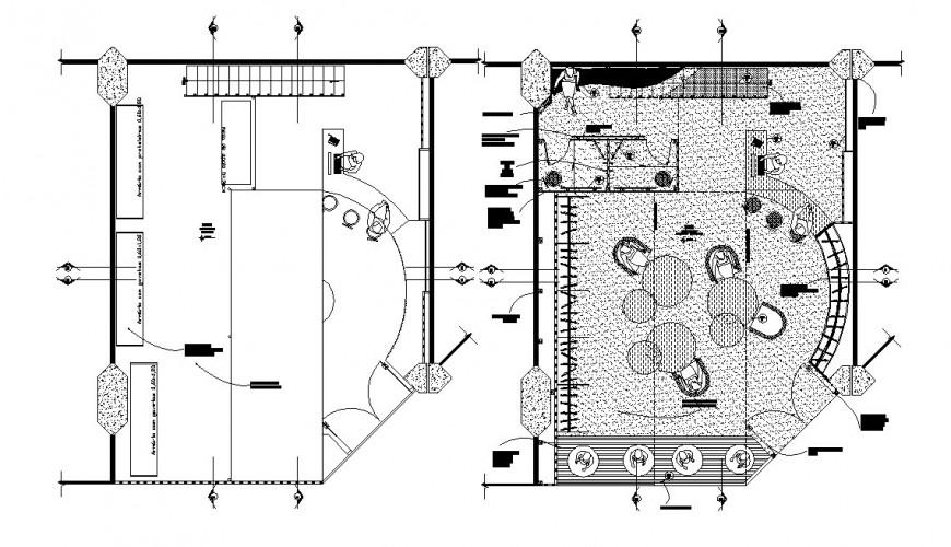 Floor plan distribution details of lingerie store dwg file