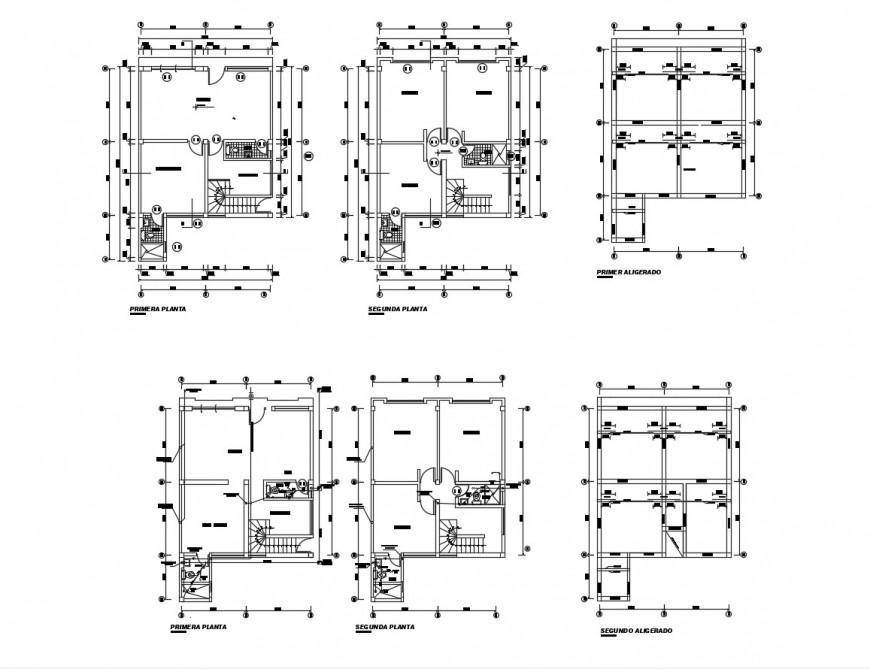 Floor plan distribution layout details of house with commercial store dwg file