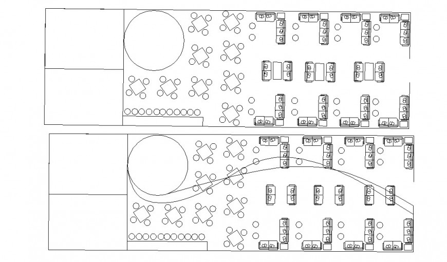 Floor plan distribution layout drawing details of corporate office floor dwg file
