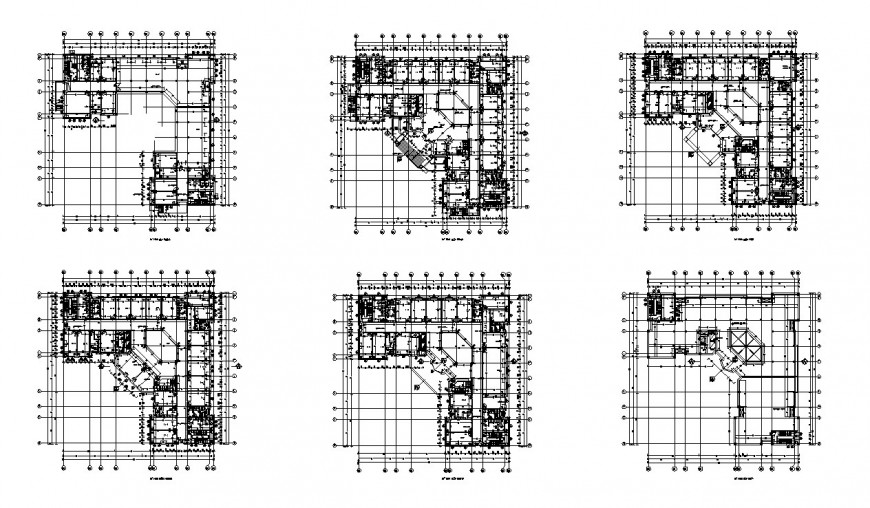Floor plan distribution layout plan details of ADM residential building dwg file