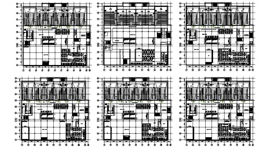 Floor plan drawing of Cinema hall building units 2d view autocad software file