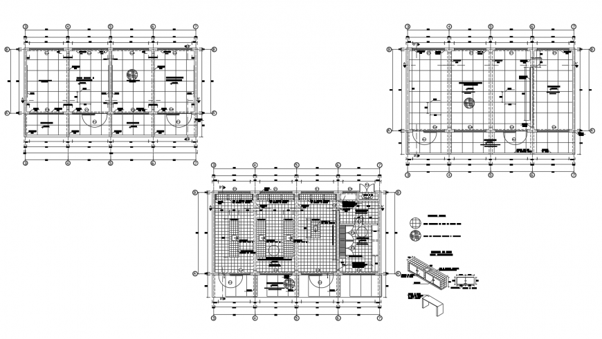 Floor plan layout details of christian school building dwg file