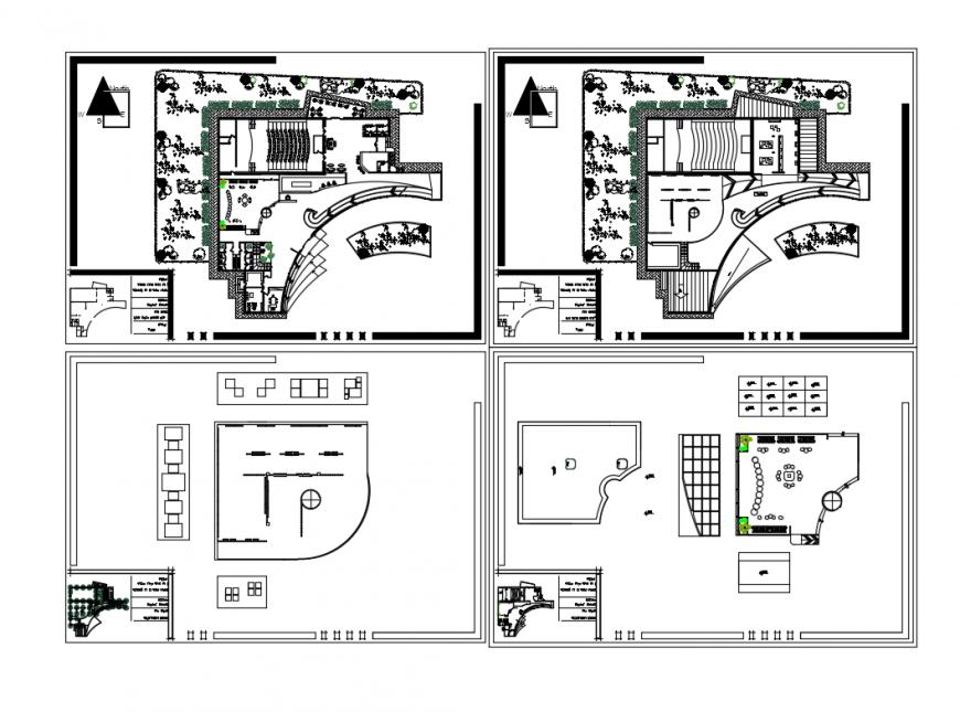 Floor plan layout details of multi flooring art gallery cad drawing details dwg file