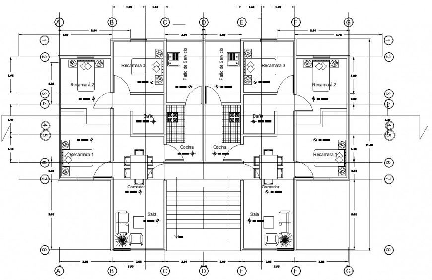 floor plan of Apartment drawing in dwg file.