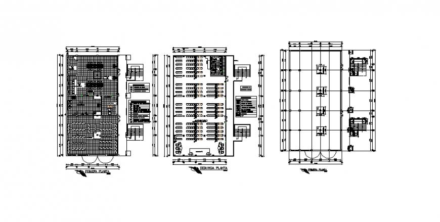 Floor plan of auditorium in auto cad file