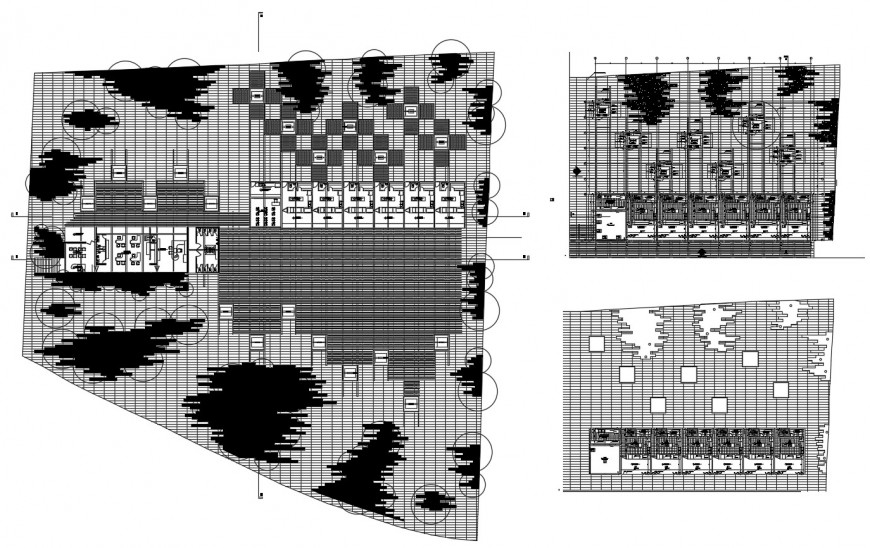 Floor plan of classroom with detail in auto cad file
