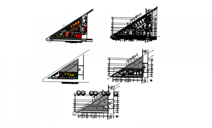 Floor plan of clinic in auto cad