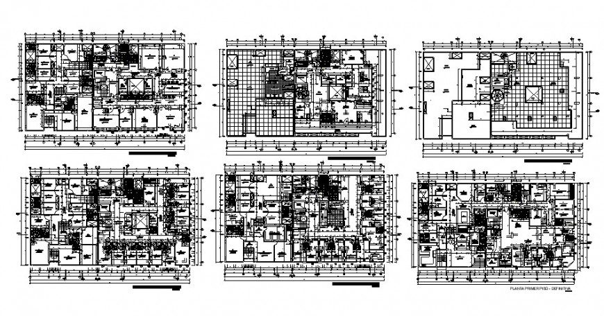Floor plan of clinic in auto cad file