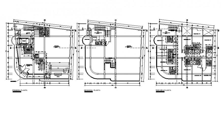 Floor plan of hotel in auto cad software