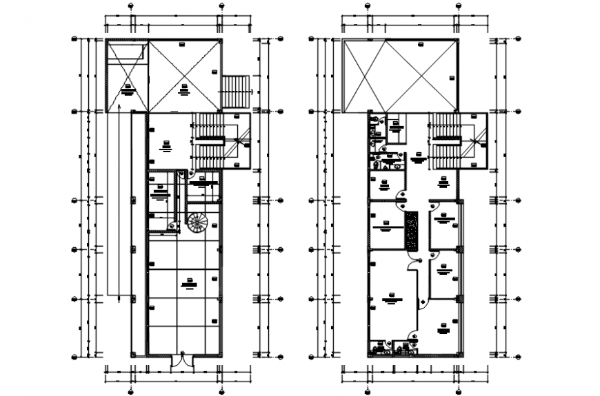 Floor plan of hotel residence in auto cad software