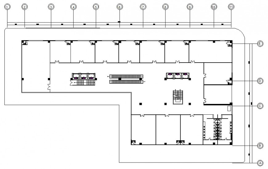 Floor plan of hotel with auto cad file