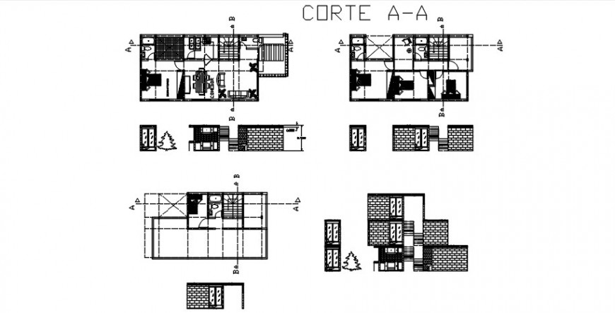 Floor plan of house CAD drawings 2d view autocad software file
