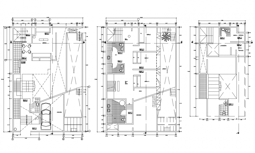 Floor plan of house in AutoCAD software