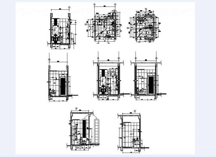 Floor plan of housing area in auto cad file
