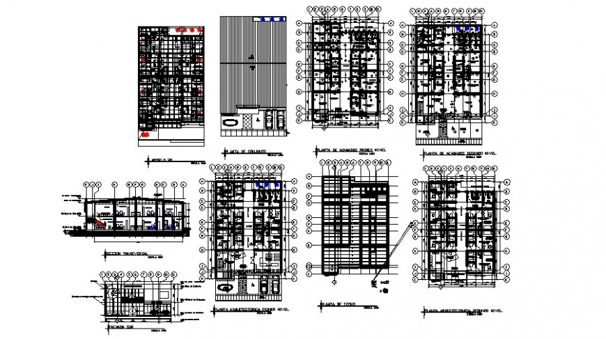 Floor plan of medical clinic in auto cad software