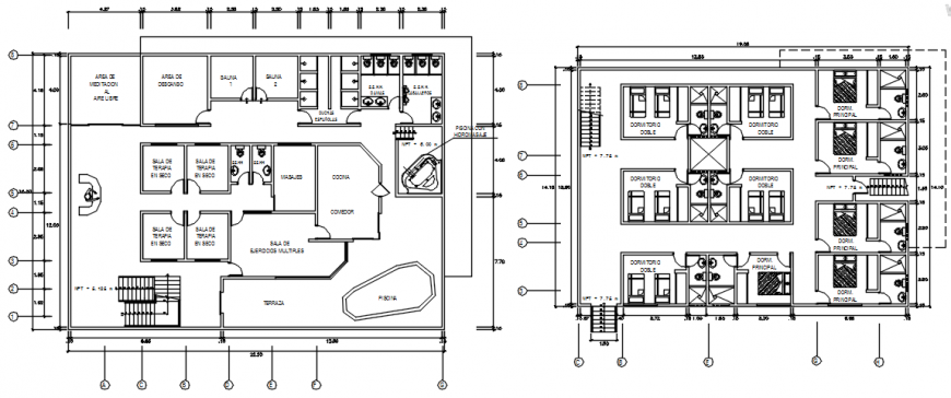 Floor plan of meditation and relaxation in auto cad