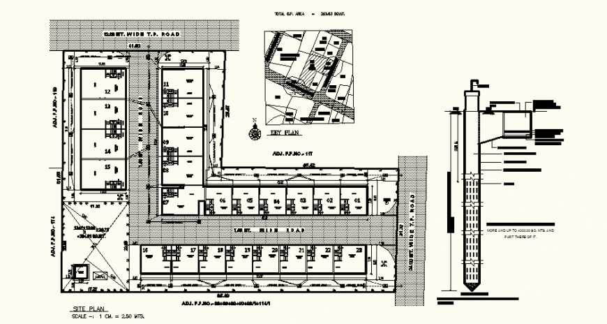 Floor plan of restaurant design with architectural detail dwg file