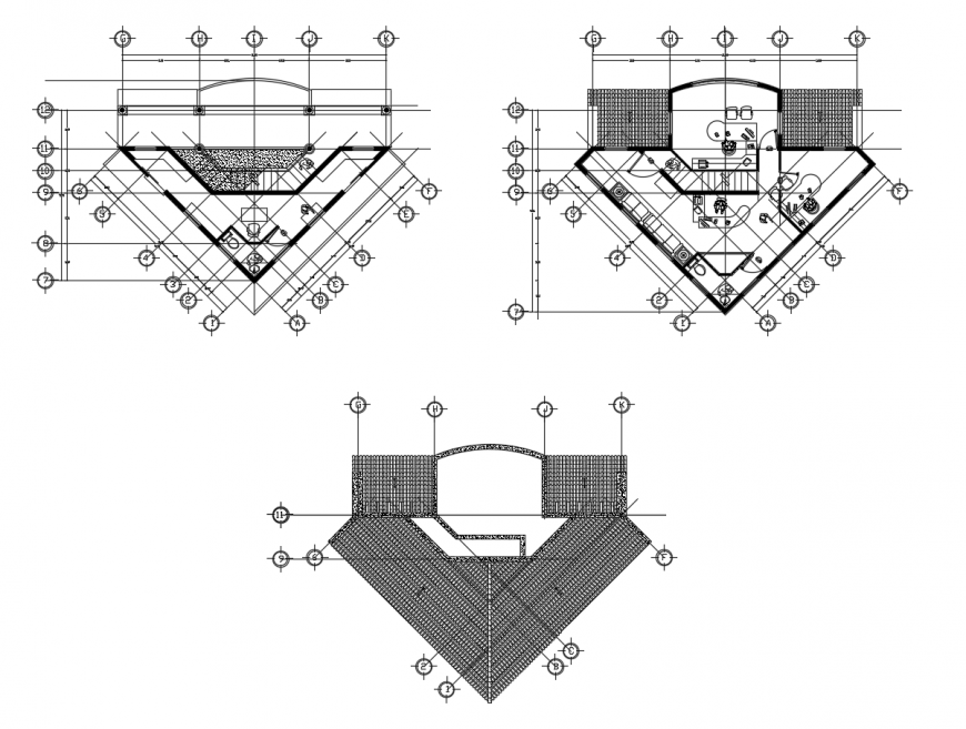 Floor plan of restaurant in AutoCAD file
