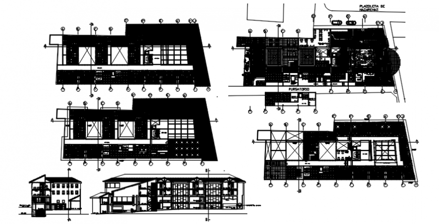 Floor plan with elevation of residential area in auto cad
