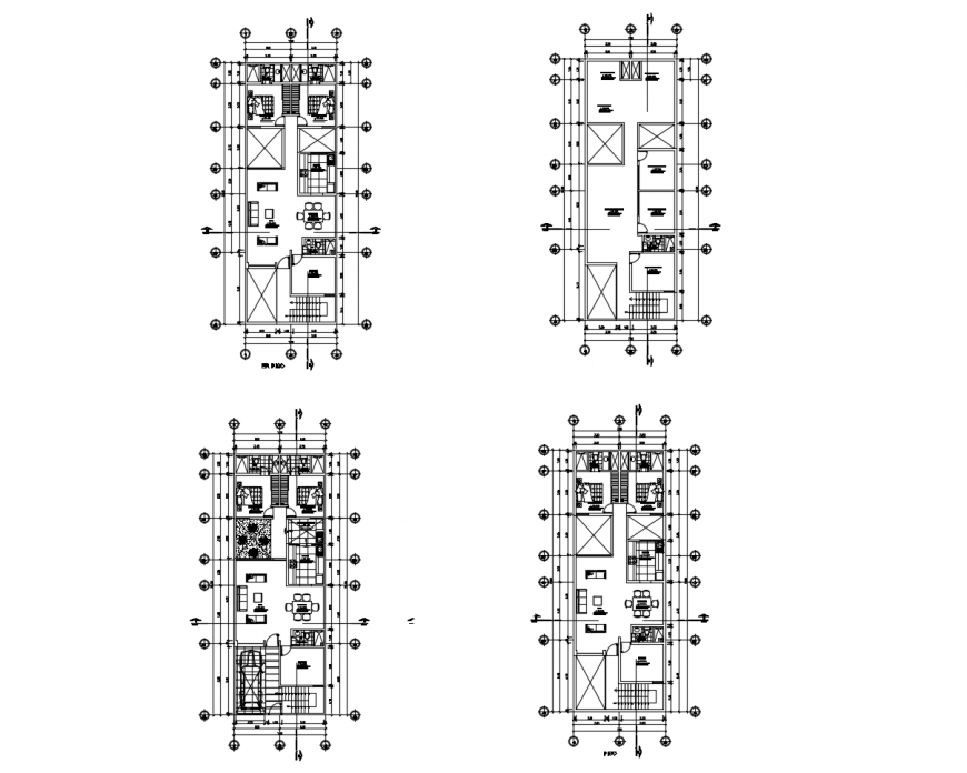 Floor plan with roof plan of house in auto cad file