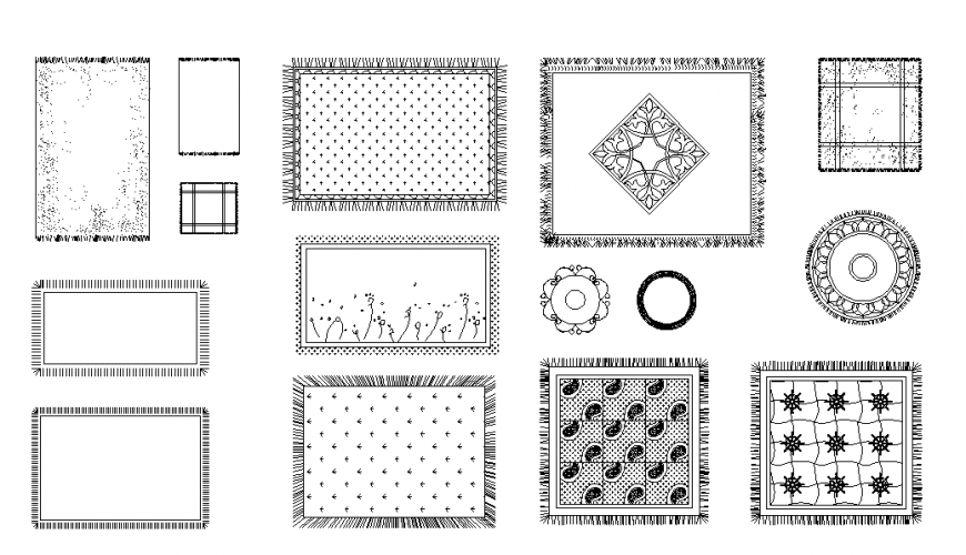 Flooring Carpet Lay-out Design in DWG file