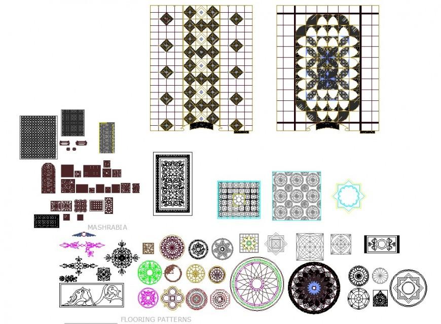 Flooring design detail dwg file