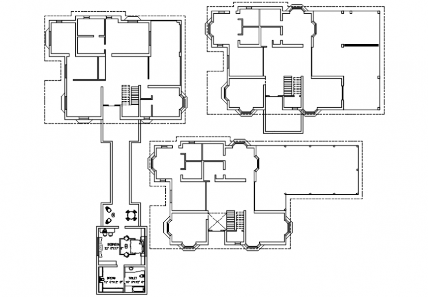 flooring layout top view