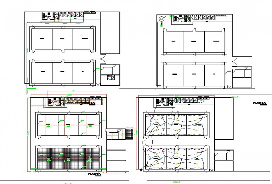 Flooring plan and electrical house plan autocad file