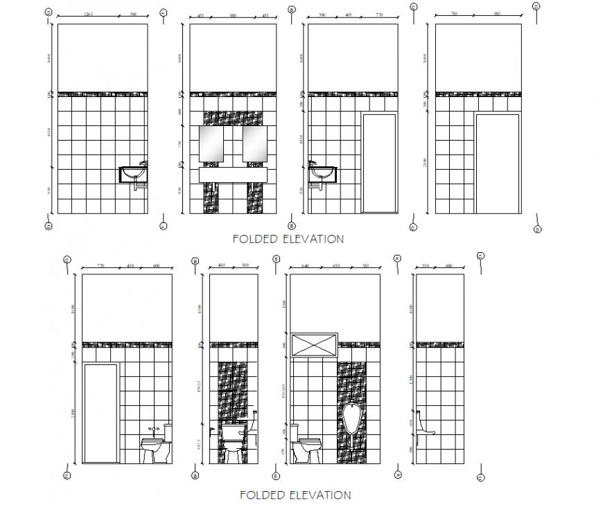 Folded elevation shopping centre layout file