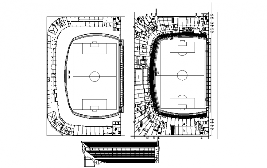 Football playground detail drawing in dwg file.