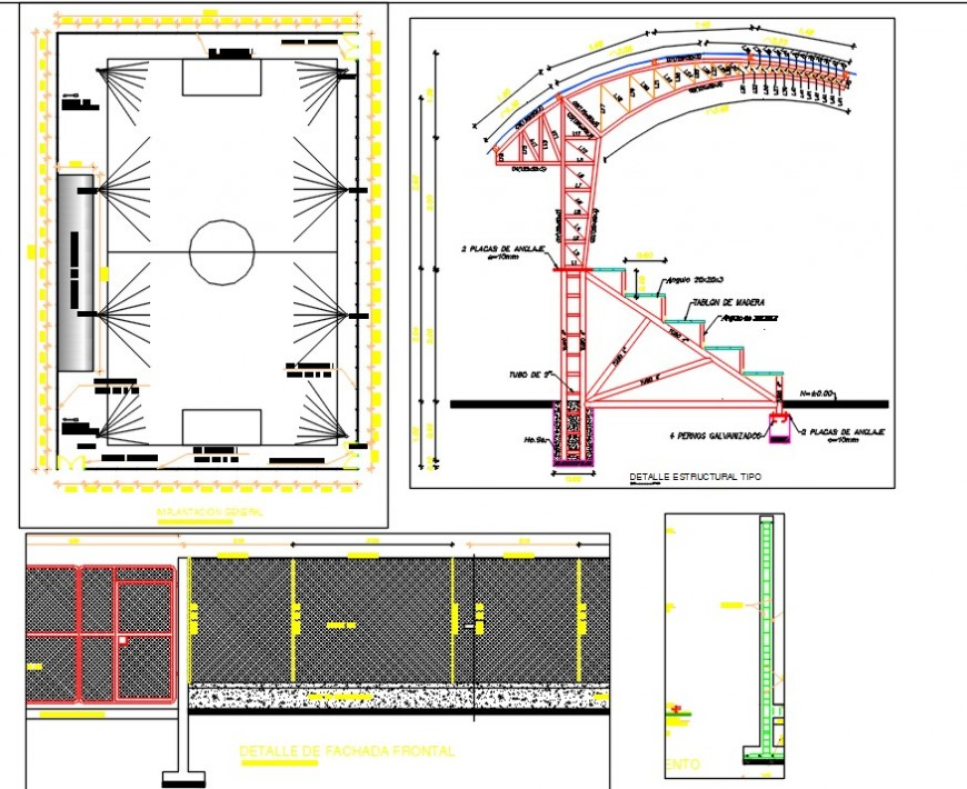 football playground drawing cad file