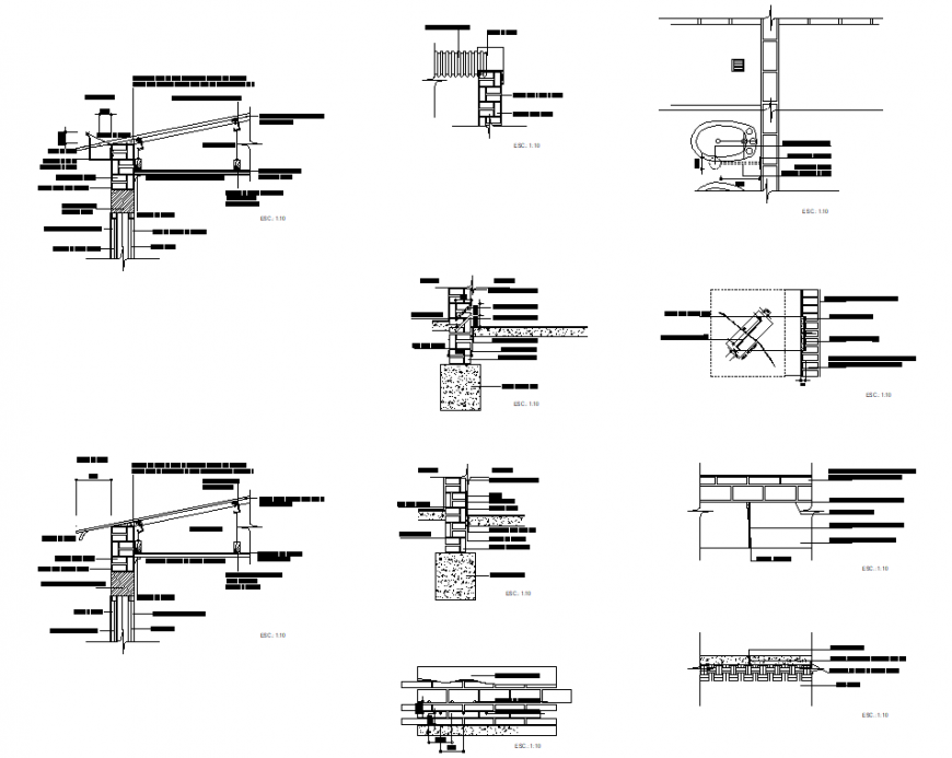 Foundation Dropped ceiling plan detail dwg file