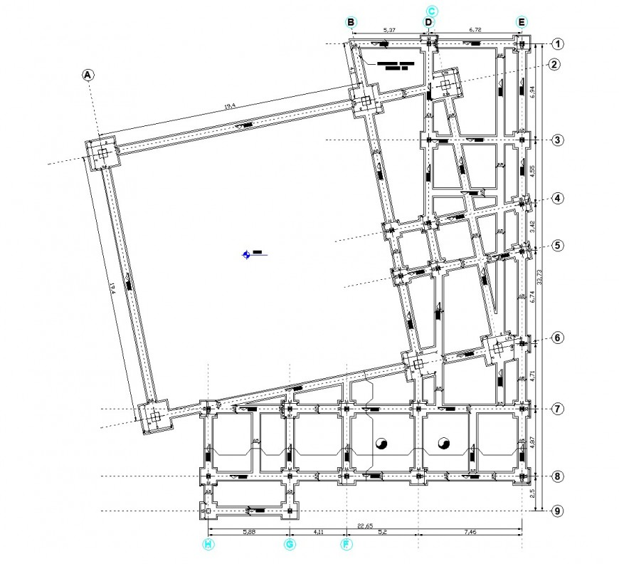 Foundation geodesic gallery plan autocad file