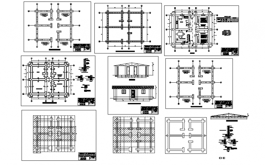 Foundation to working house plan detail dwg file