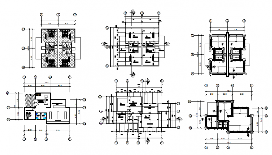 Foundation to working office plan detail
