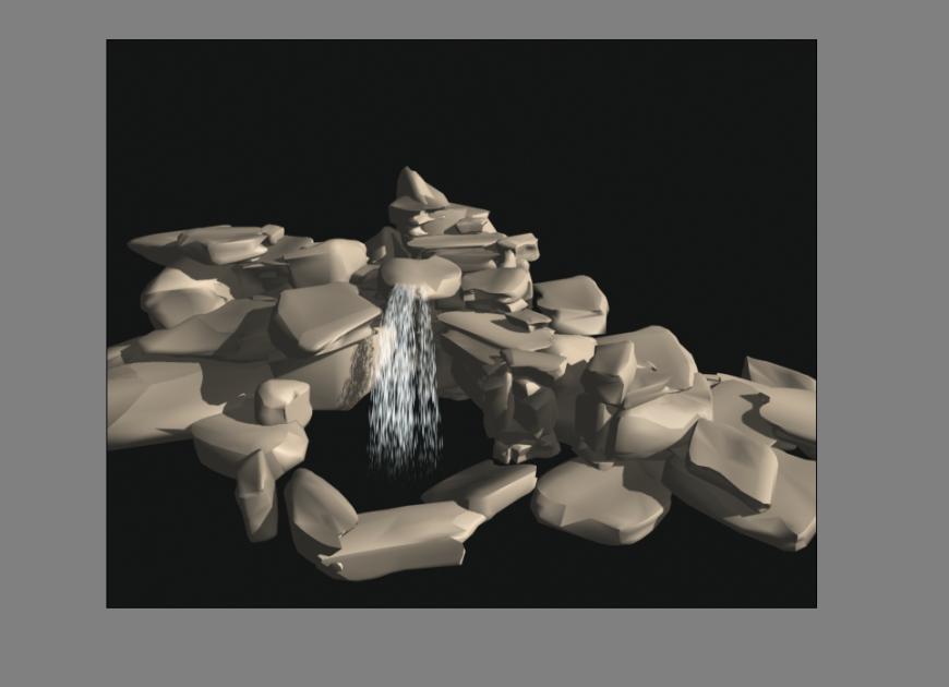 Fountain 3 D modal dwg file