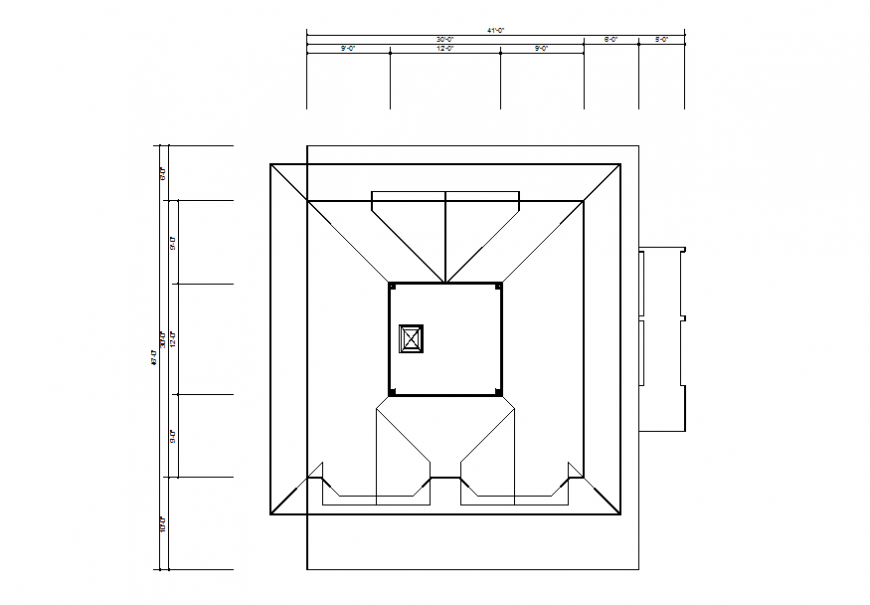 Fourth floor framing plan structure details of house building dwg file