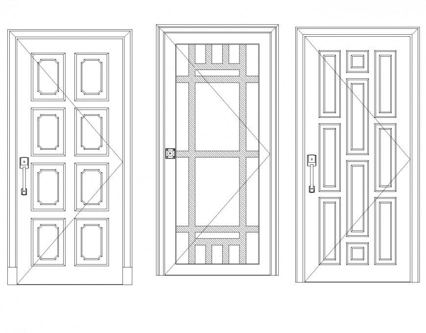 Framing door elevation detail layout file