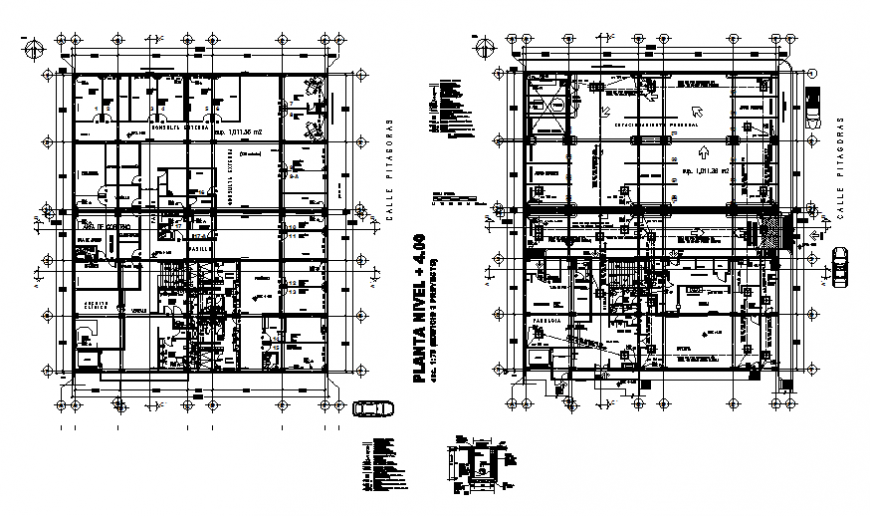 Framing plan details of first and second floor of house dwg file