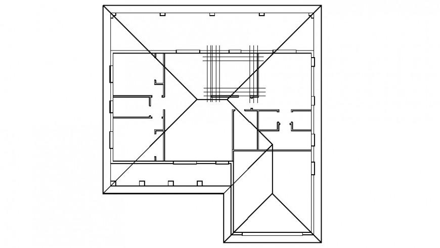Framing plan details of fourth floor of house dwg file