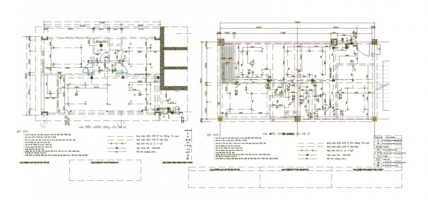 Framing plan structure details of house ground and first floor cad drawing details dwg file