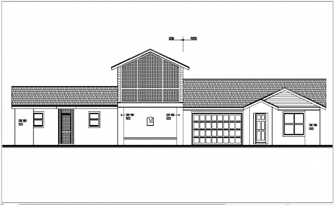 front plan elevation view detail dwg file