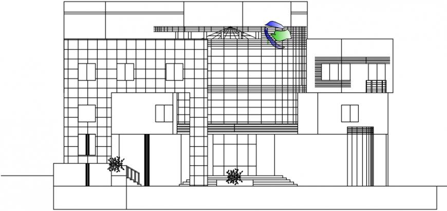 Front building exterior view model