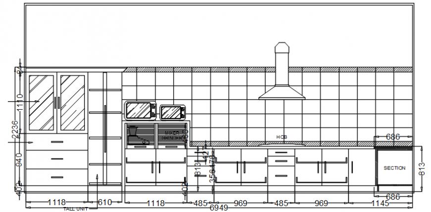 Front complete detailing furniture of kitchen