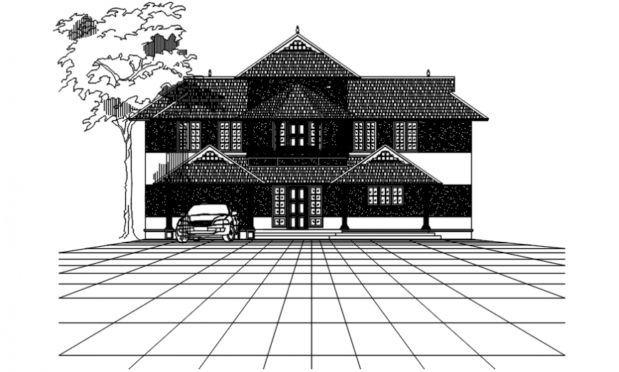 Front elevation design of villa project