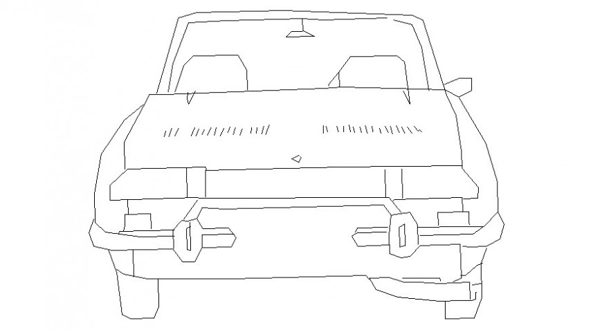 Front elevation of car in AutoCAD