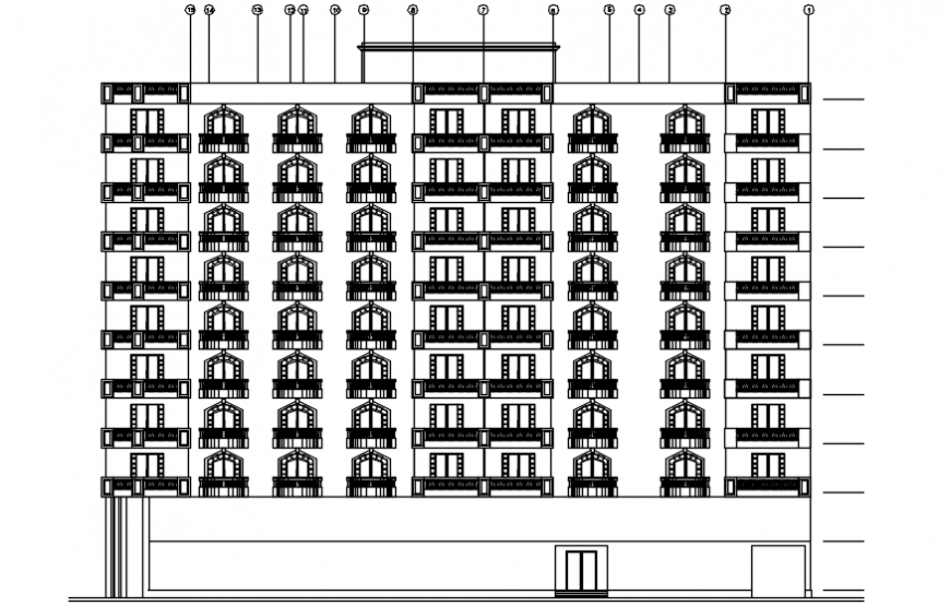 Front exterior concept of apartment details