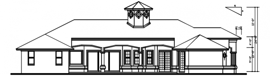 Front traditional concept house detail