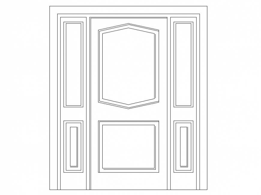 Front view door detail dwg